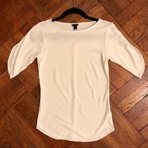 Ann Taylor White Top with Open Sleeve